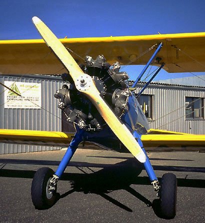 Boing Stearman with MT fixed pitch propeller